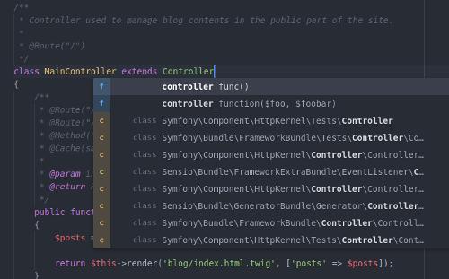 Atom PHP Integrator Autocomplete